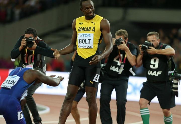 Usain bolt video highlights finale 100 metri n 1 iaaf for Finale 100 metri londra