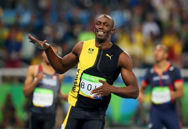 Usain bolt video finale 100 metri il giamaicano terzo for Finale 100 metri londra
