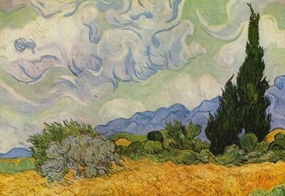 Vincent Van Gogh, Campo di grano con cipressi (1899) (Wikipedia)