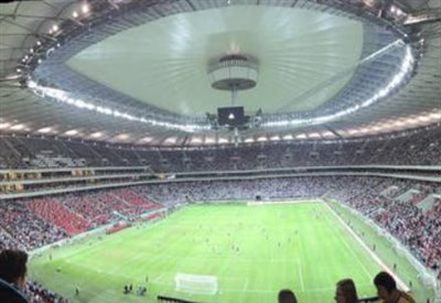 Il National Stadium di Varsavia (dall'account Twitter ufficiale @ACF_Fiorentina)