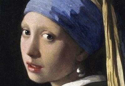 Johannes Vermeer, Ragazza con l'orecchino di perla (1665 c.a) (Immagine d'archivio)