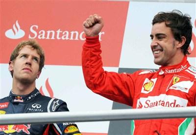 Sebastian Vettel e Fernando Alonso (Infophoto)