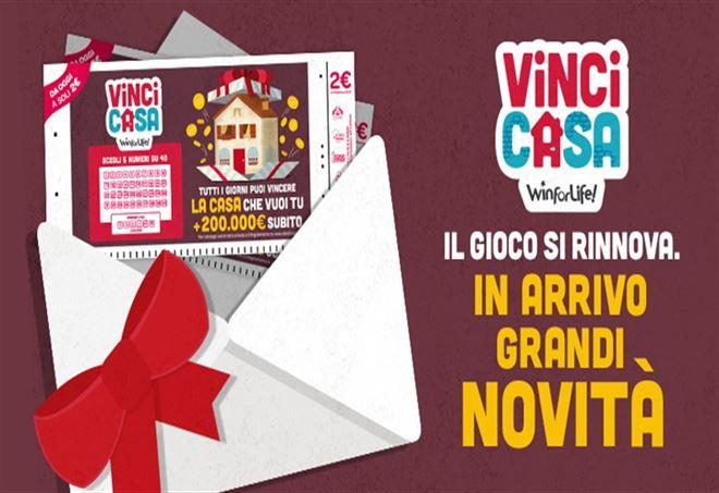 VinciCasa, il concorso di Win for Life