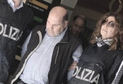 L'arresto di Riccardo Viti (Infophoto)