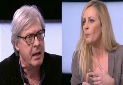 'Bianco e Nero', Vittorio Sgarbi litiga con Luisella Costamagna e Luca Telese