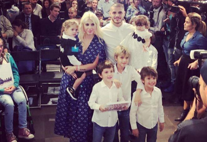 Wanda Nara con Icardi e figli