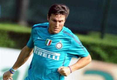 Javier Zanetti, 40 anni, centrocampista argentino dell'Inter (INFOPHOTO)
