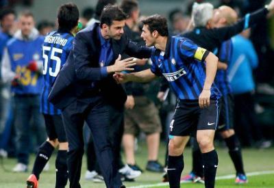 Stramaccioni e Zanetti: oggi scende in campo l'Inter (Infophoto)