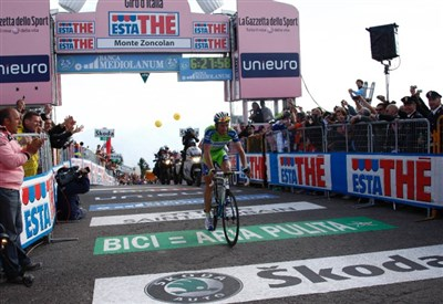 Ivan Basso sullo Zoncolan al Giro 2010