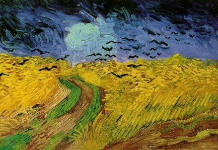 Vincent van Gogh, Campo di grano (particolare)