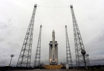 Il vettore Vesa alla base di lancio (cc-ESA)