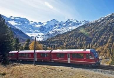 Il trenino svizzero Allegra