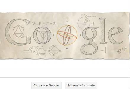 Il doodle dedicato a Eulero
