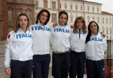 Il Dream Team del fioretto femminile (foto Ansa)