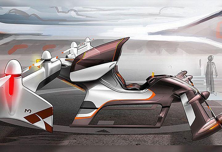 Prototipo del Vahana, multicottero per uso individuale preannunciato da Airbus Group per fine 2017