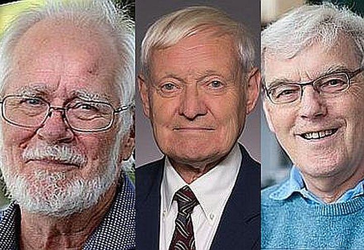 Da sinistra: Jacques Dubochet, Joachim Frank, Richard Henderson
