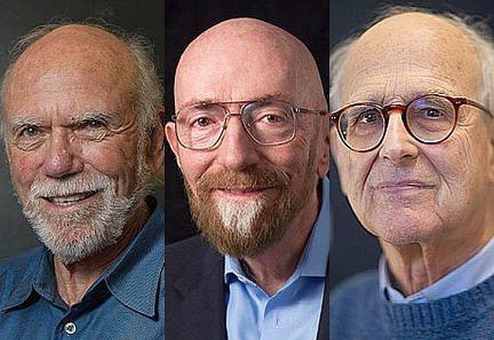 Da sinistra: Barry Barish, Kip Thorne, Rainer Weiss