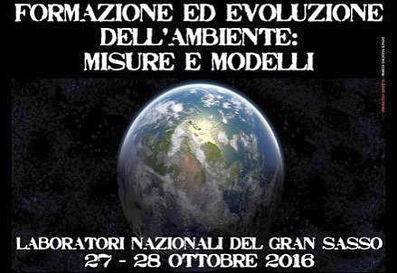 N° 30 - Simposio 2016: Formazione ed evoluzione dell'ambiente: misure e modelli