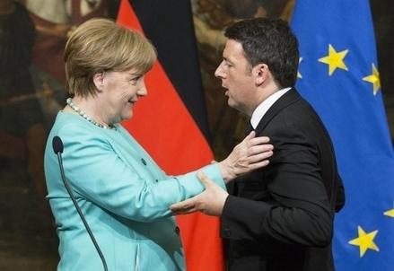 Angela Merkel e Matteo Renzi (Foto: LaPresse)