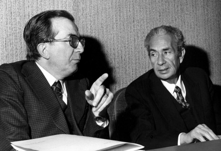 Giulio Andreotti con Aldo Moro (LaPresse)