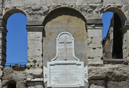 Particolare del Colosseo (LaPresse)