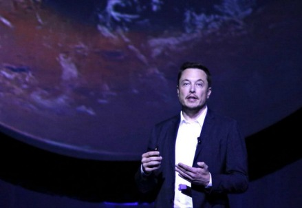 Elon Musk tiene un discorso su Marte (LaPresse)