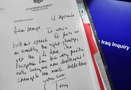Lettera di Tony Blair a George W. Bush (LaPresse)