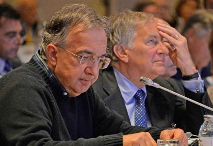 Sergio Marchionne con l'ambasciatore Usa in Italia John Phillips (LaPresse)