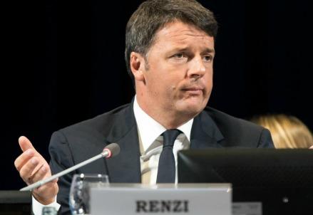 Matteo Renzi a Cernobbio (LaPresse)