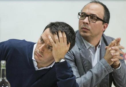 Matteo Renzi e Davide Faraone (LaPresse)