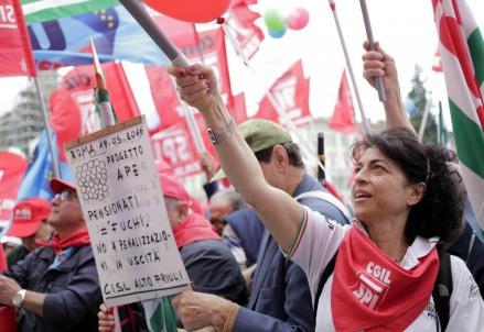 Una manifestazione dei pensionati