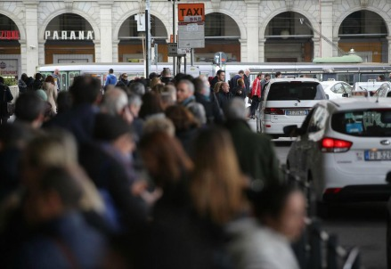 Blocco Taxi (LaPresse)