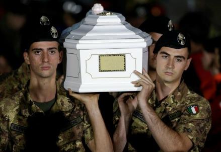 I funerali delle vittime di Amatrice (La Presse)