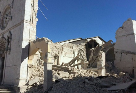 Terremoto, Norcia (Immagine d'archivio LaPresse)