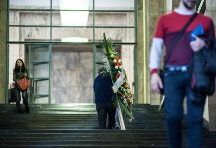 Tribunale di Milano, camera ardente per strage 9 aprile 2015 (Foto: LaPresse)