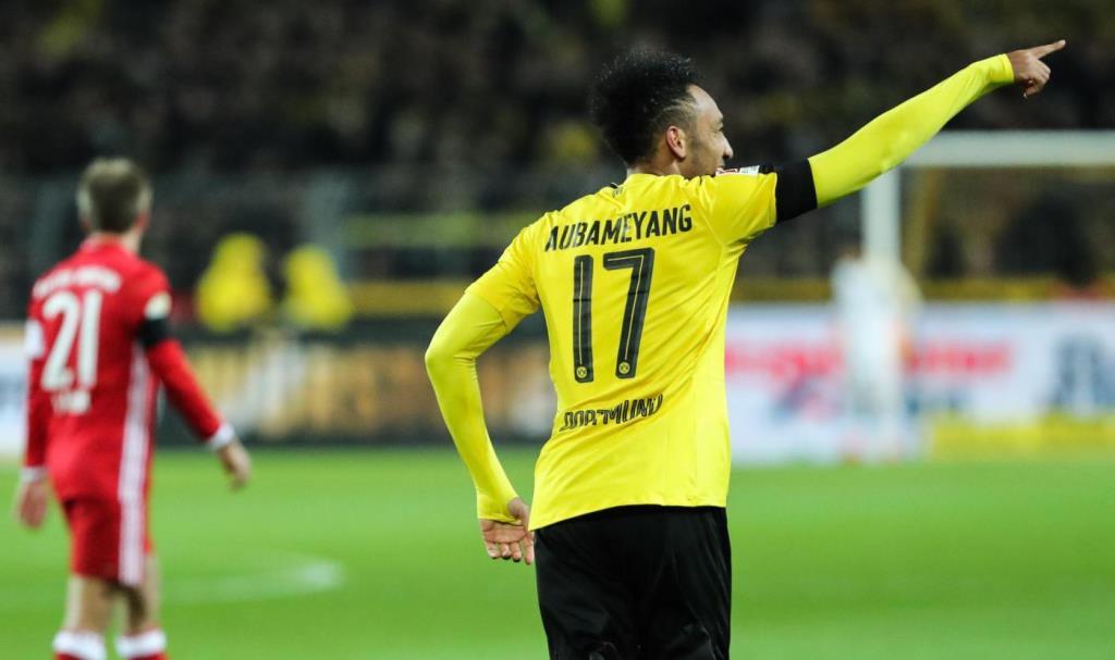Aubameyang con il Borussia Dortmund - LaPresse