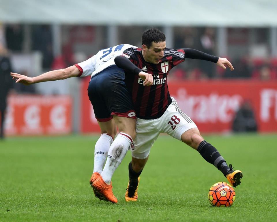 Il centrocampista del Milan, Giacomo Bonaventura (Lapresse)