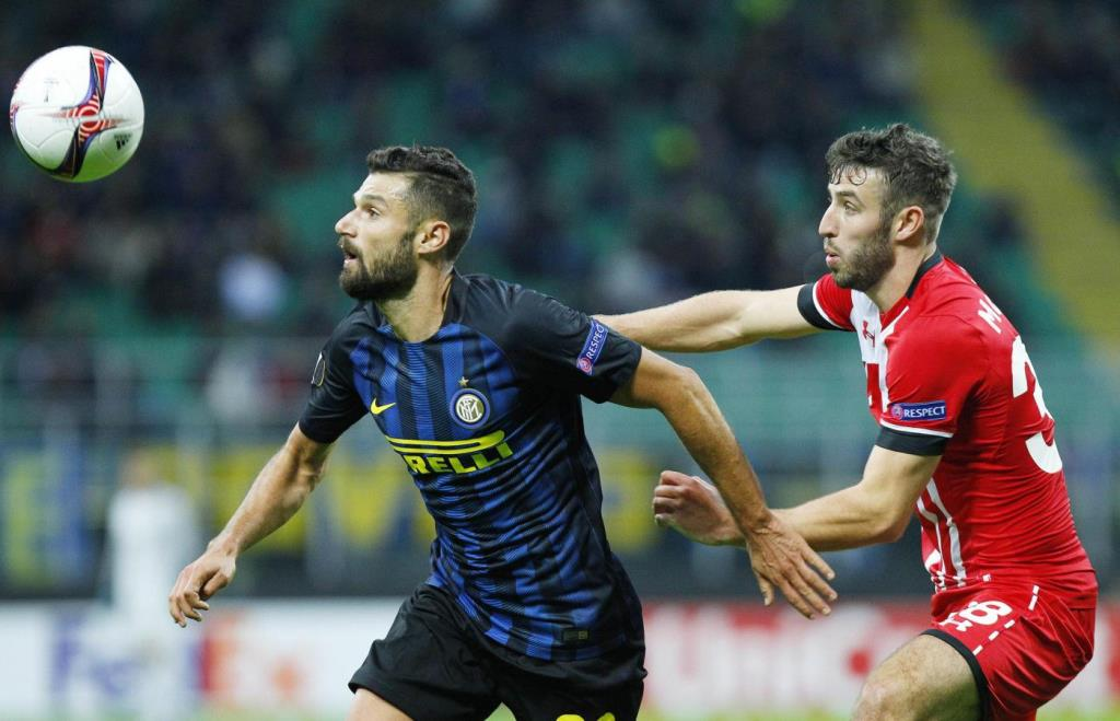 Il trequartista dell'Inter, Antonio Candreva (Lapresse)