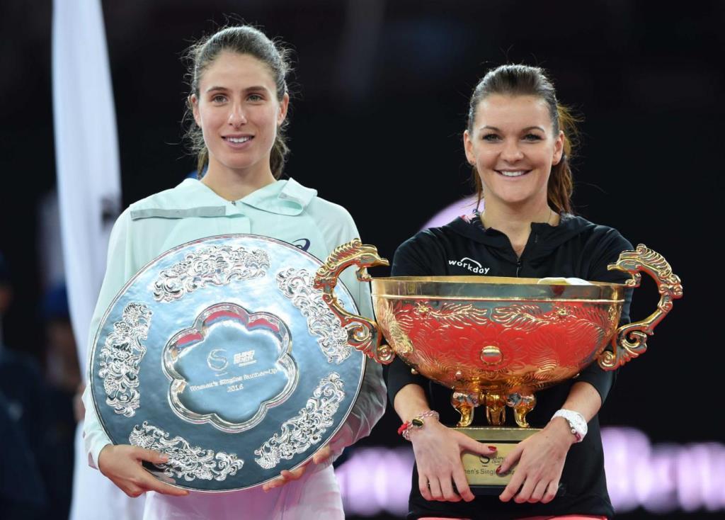 Johanna Konta, 25 anni, e Agnieszka Radwanska, 27 (Foto LaPresse)