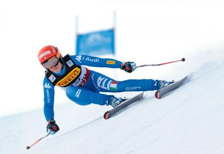 Diretta gigante femminile Aspen streaming, Federica Brignone in azione (LaPresse)