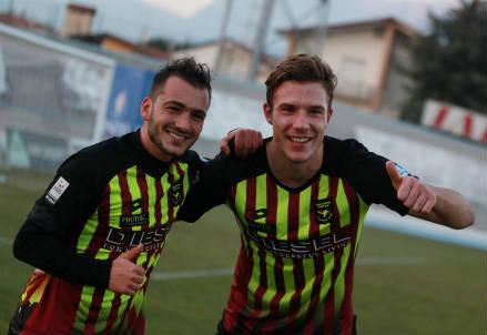 Gli attaccanti del Bassano Roberto Candido (a sinistra), 23 anni e Tony Maistrello, 23 (LAPRESSE)