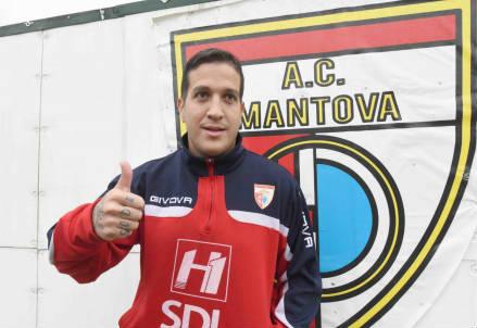 Il brasiliano Felipe Sodinha, 28 anni, trequartista del Mantova (LAPRESSE)