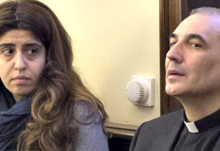 Francesca Chaouqui e monsignor Lucio Vallejo Balda