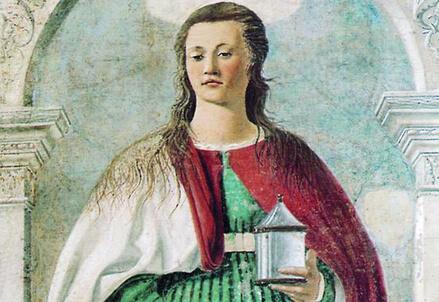 Maria Maddalena di Piero della Francesca, particolare