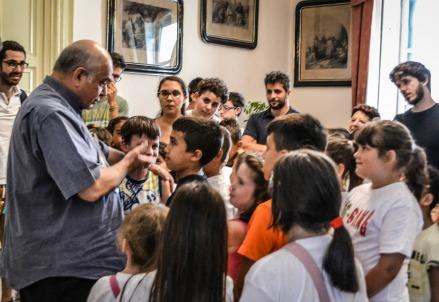 Mons. Salvatore Gristina e i bambini del