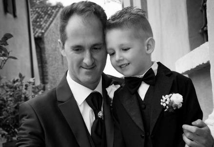 Cristian Scaravelli e il figlio Marco morto sulle minimoto (Facebook)