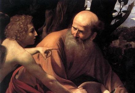 Caravaggio, Sacrificio di Isacco (particolare) (1603-04)