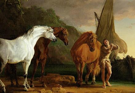 Sawrey Gilpin, Gulliver lascia la terra degli Houyhnhnms (1769) (Immagine da Wikipedia)