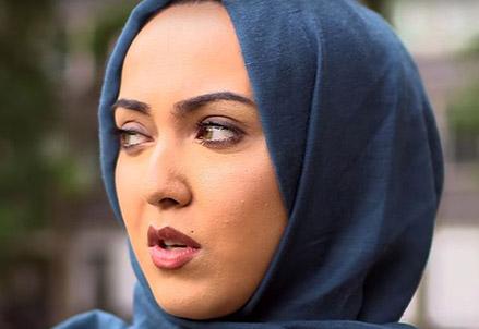 Donna musulmana intervistata