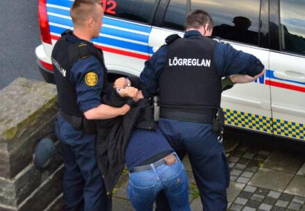 Il momento dell'arresto, immagine dal web